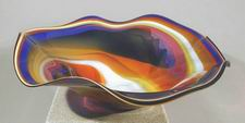 Kela's Online glass gallery - glass bowls, paper weights, fish, sculptures, and much more. :  glass bowl glass paper weight art glass