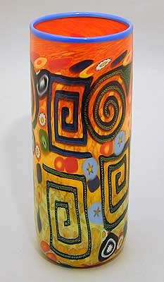 Art Glass vase by Rina Fehrensen from Kela's...a glass gallery on Kauai :  home designer home accents tropical cylinder vase