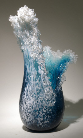 Art Glass Sculpture By Desomma And Blaker From Kela S A
